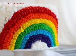 Rainbow Ruffle Cake!
