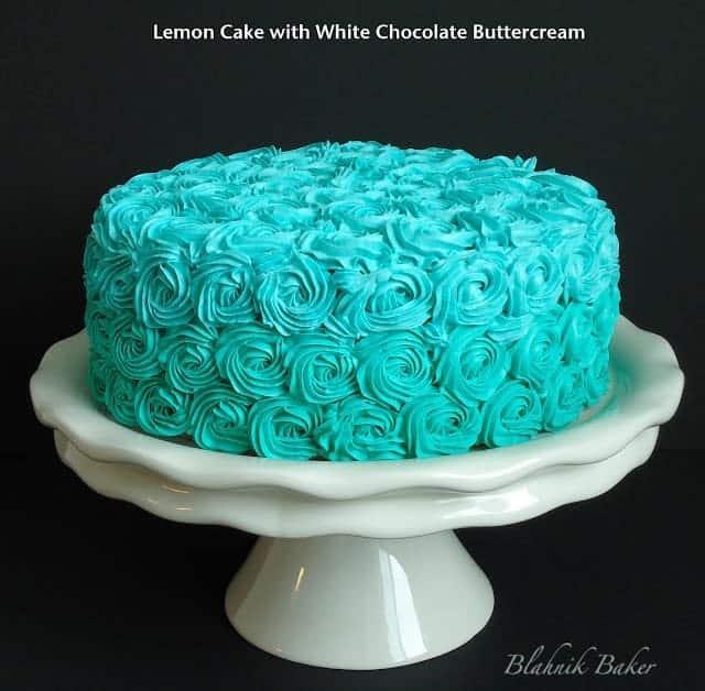 Red Grey Teal Birthday Cake