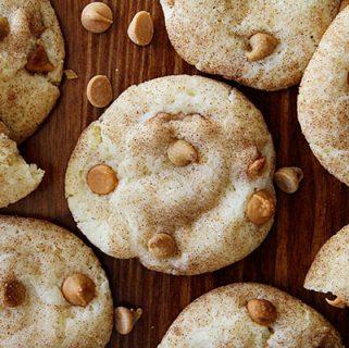 butterscotch peanut butter snickerdoodles