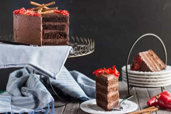 Chocolate Cake with Mexican Chocolate Frosting - i am baker