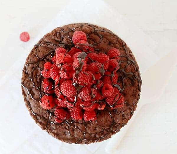 Skinny Chocolate Raspberry Cake with Raspberry Buttercream!