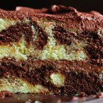 perfect marble cake and whipped chocolate buttercream