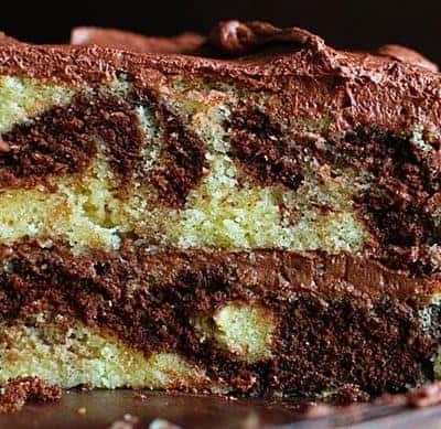 The Perfect Marble Cake with the Perfect Whipped Chocolate Buttercream!