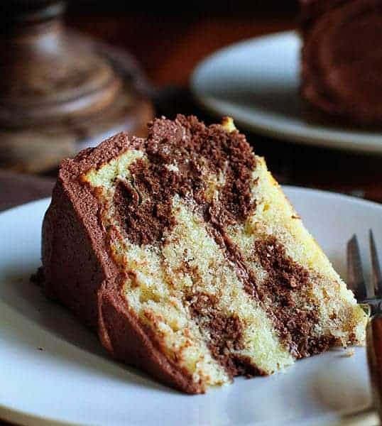 The Perfect Marble Cake with the Perfect Whipped Chocolate Buttercream ...
