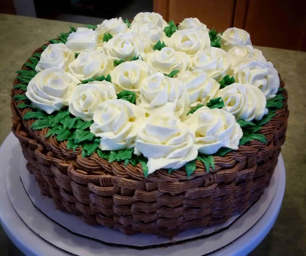 Basket Of Roses Cake I Am Baker
