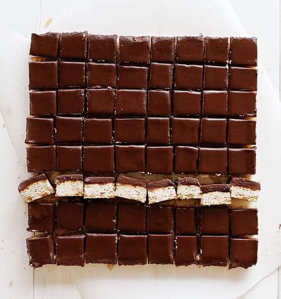 Chocolate Ganache Shortbread Bars