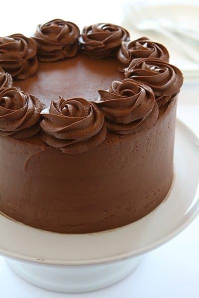 Cherry Cake with Chocolate Buttercream