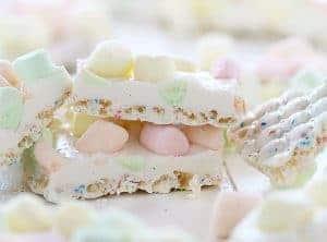 White Chocolate Crispy Marshmallow Bark