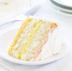 Spring Cheesecake Cake (raspberry, lemon & orange)