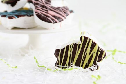 Easter Inspired Chocolate Covered Homemade Marshmallows!