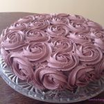 Violet velvet rose cake