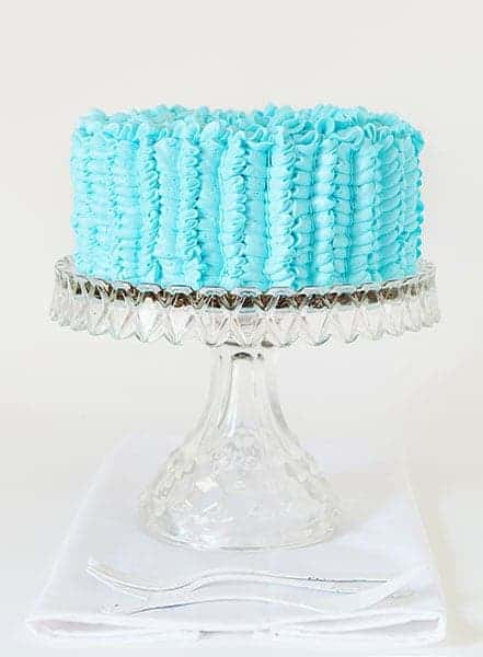 Chocolate Cake with Pretty Blue Frosting