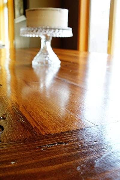 clean wood table