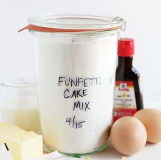homemade funfetti cake mix