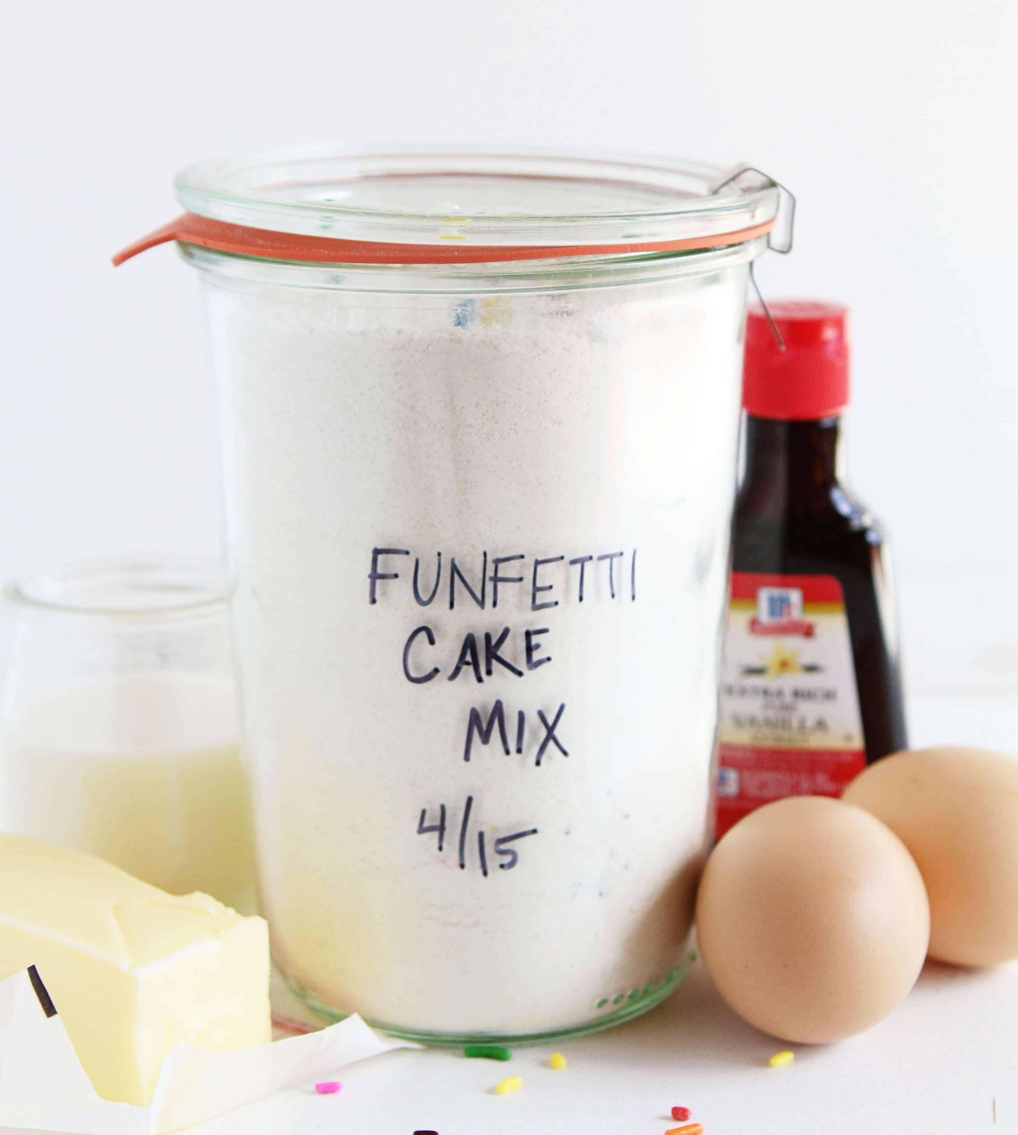 Homemade Funfetti Cake Mix!