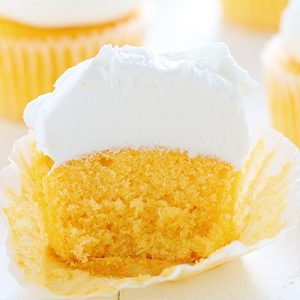 Orange Creamsicle Cupcake with Whipped Buttercream!