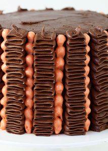 ruffle & dot cake