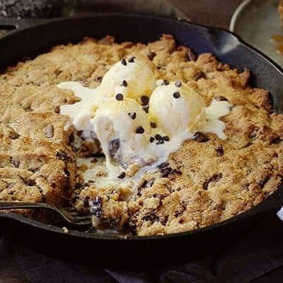 Spicy Chocolate Chip Skillet Cookie!