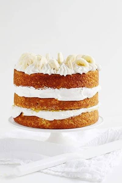 Homemade Banana Cake with Fresh Banana Curd!