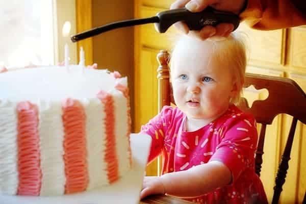 Olivia's Birthday Cake~ Pink & White Ruffle Cake!