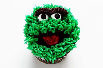 Oscar the Grouch Cupcakes!