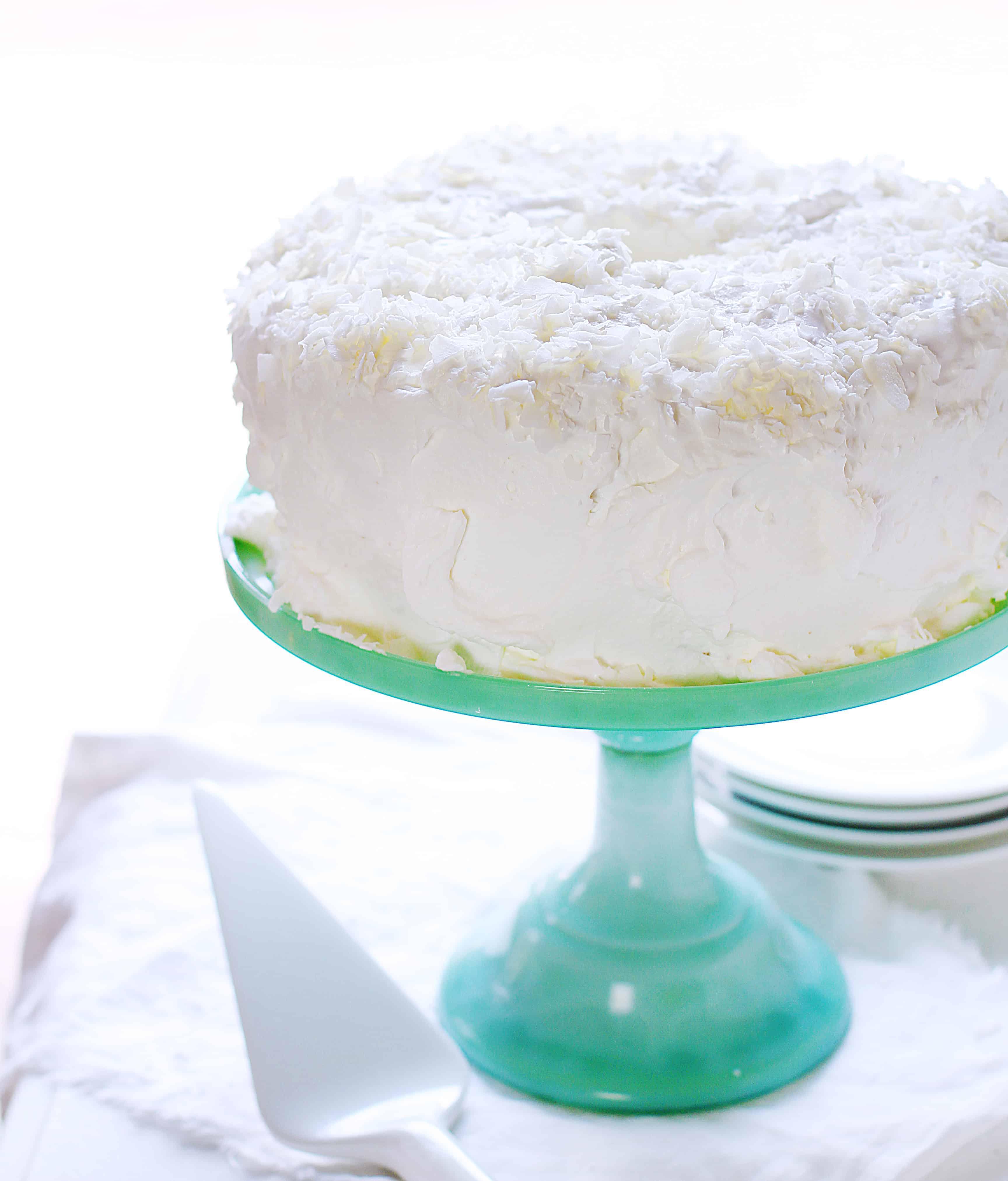 How to Make Coconut Angel Food Cake