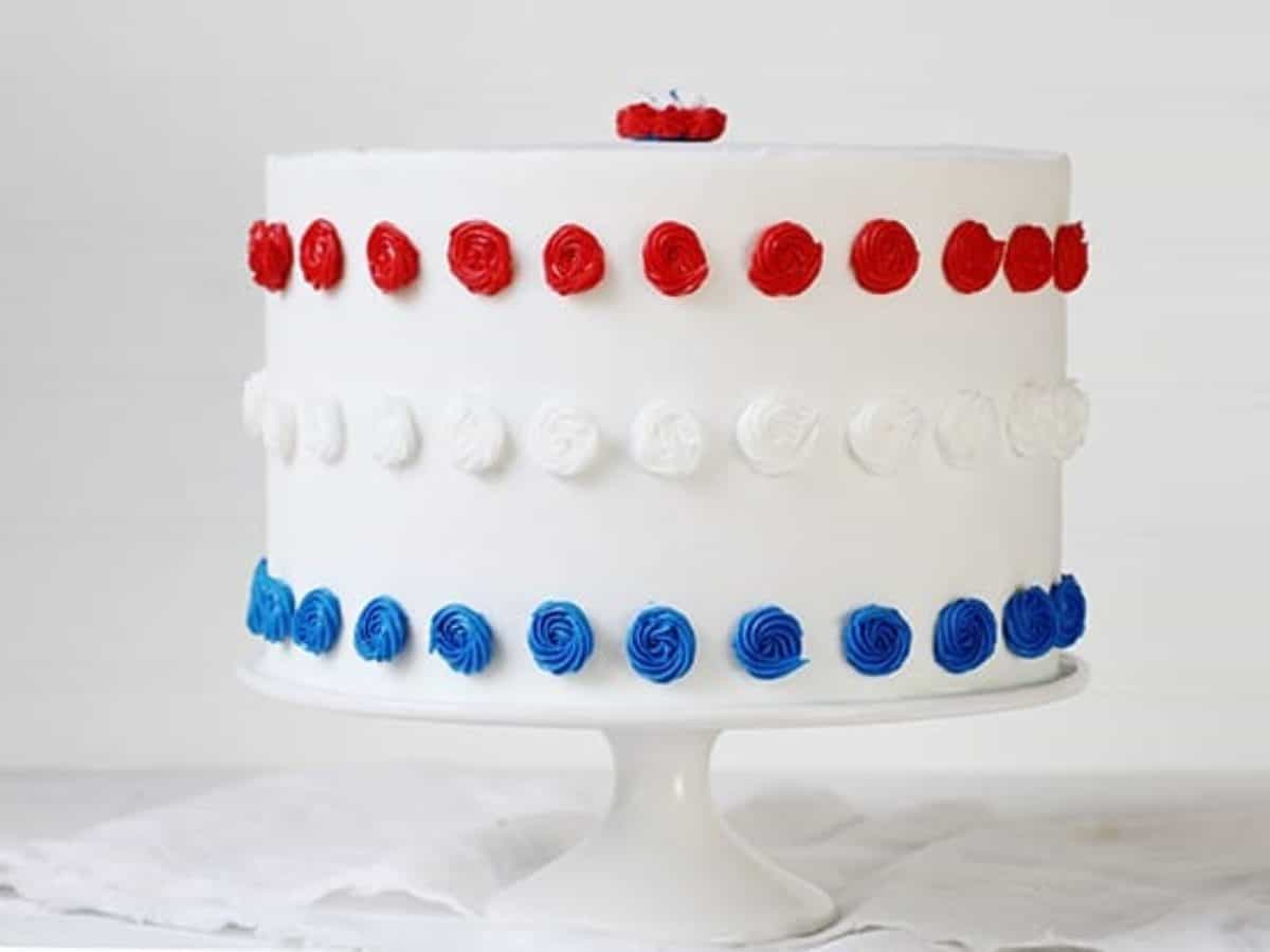Wondrous Red White Blue Cake Patriotic Cake I Am Baker Funny Birthday Cards Online Alyptdamsfinfo
