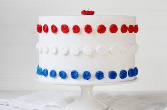 Patriotic Red, White, & Blue Cake!