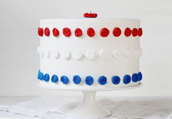 Patriotic Red, White, & Blue Cake!
