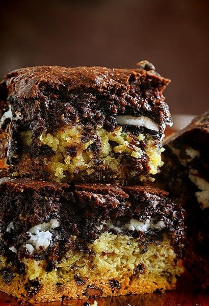 Zucchini Slutty Brownies! Seriously delicious and a fabulous way to use up some summer zucchini!