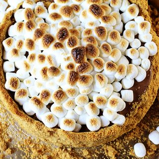 Frozen S'mores Cheesecake