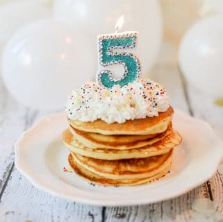 Birthday Cake Mix Pancakes