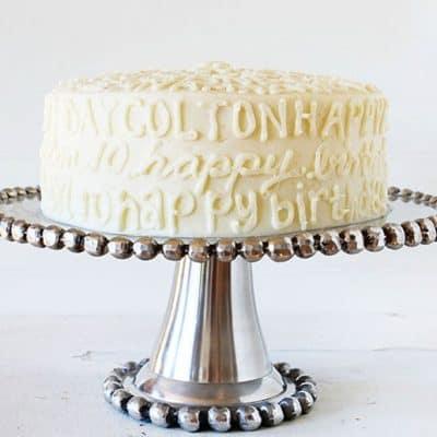 Typography Birthday Cake!