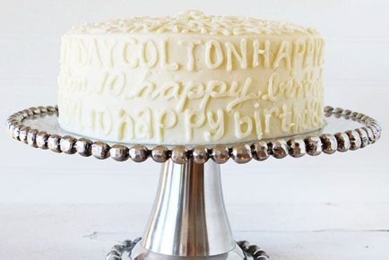 Typography Birthday Cake!