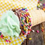 easy meringue ice cream cones