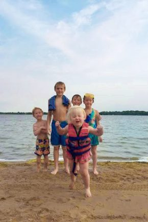 Kids Swimming at Lake George