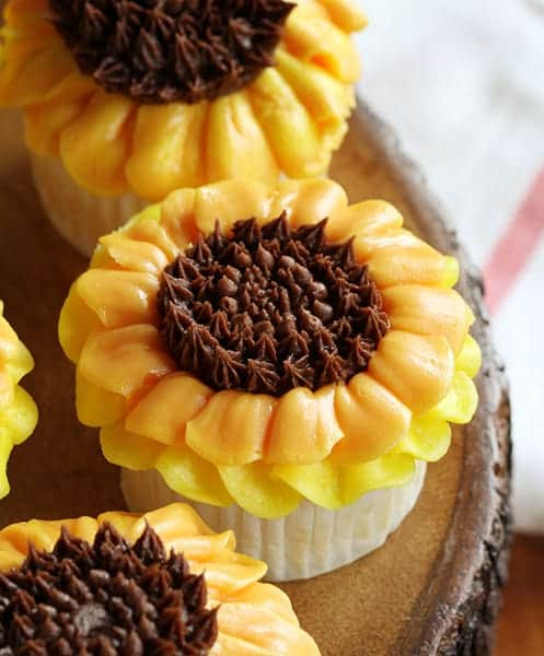 Buttercream Sunflower Cupcakes! {video hot-to}