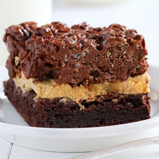 Krispy Pumpkin Brownies