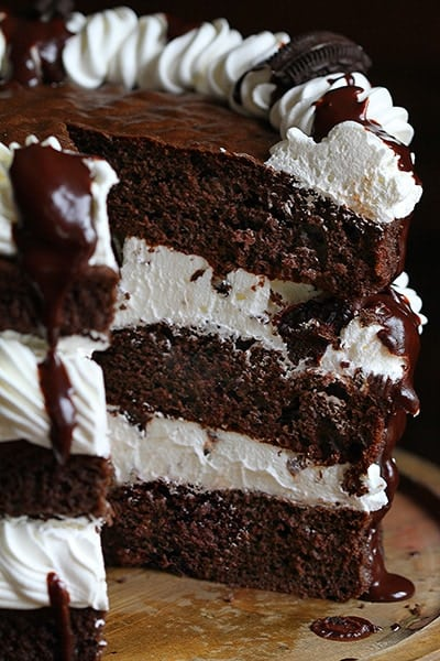 Mississippi Mud Cake with Kahlua Whipped Cream!