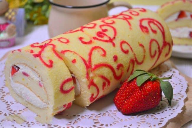 Sponge Cake Jelly Roll Recipe: I Am Baker