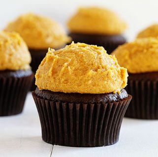 Chocolate Cupcake with Pumpkin Spice Buttercream