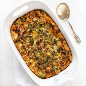 Breakfast Strata- or EggBake for us midwestern folks!
