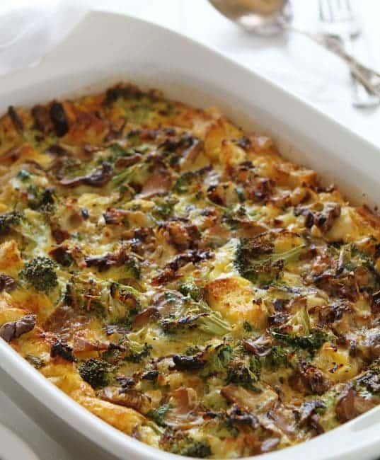 Perfect Breakfast Strata - Or Eggbake as the midwestern folks call it!