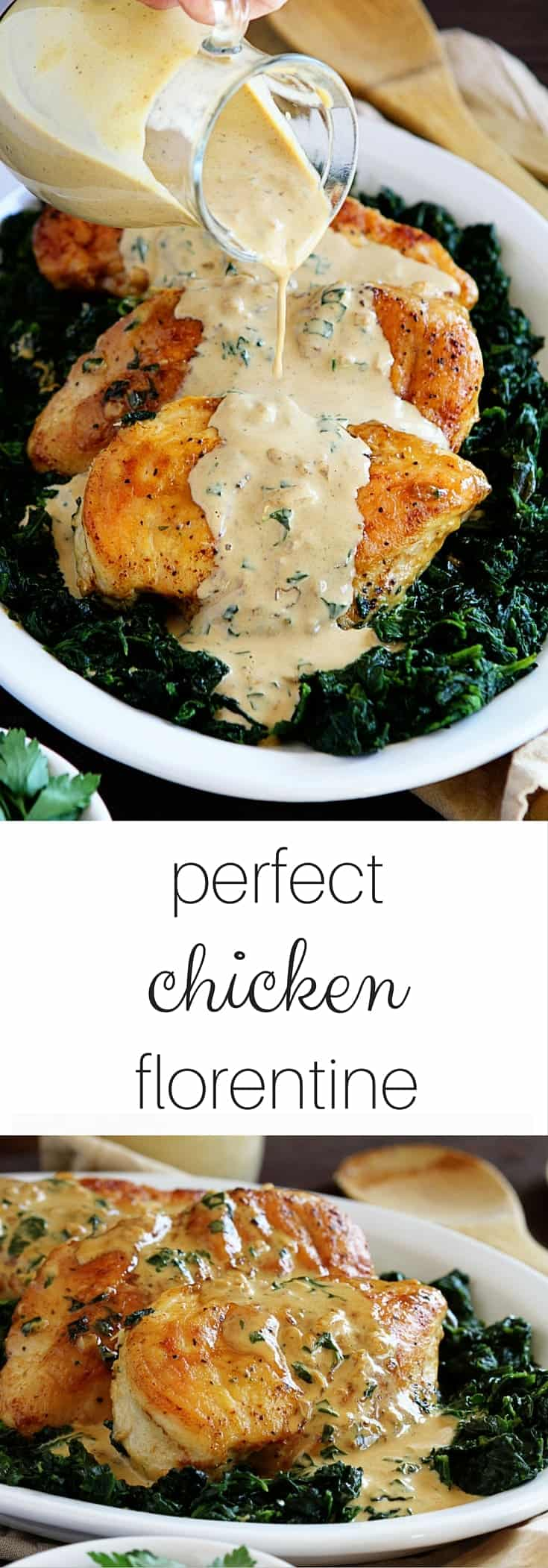 Perfect & Easy Chicken Florentine! A great way to add some flavor to your supper!