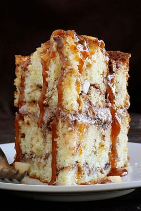 Caramel Apple Cinnamon Cake! My secret method is what makes this cake amazing!