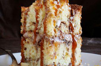 Caramel Apple Cinnamon Cake! My secret method is what makes this cake amazing!