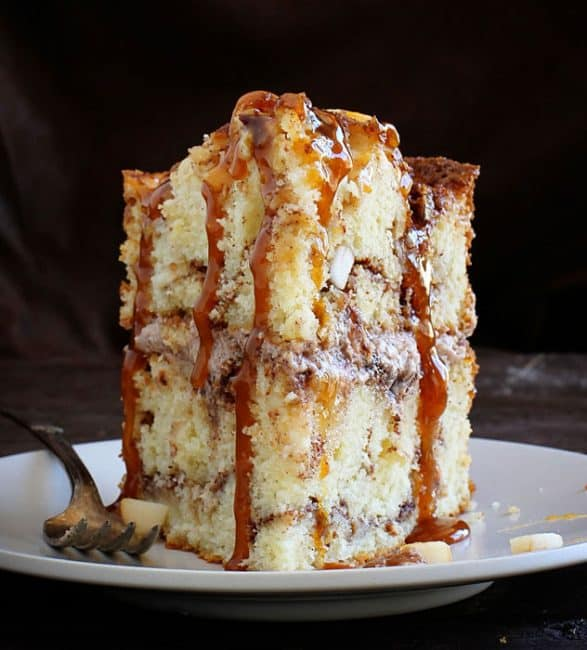 Caramel Apple Cake! My secret method is what makes this cake amazing!