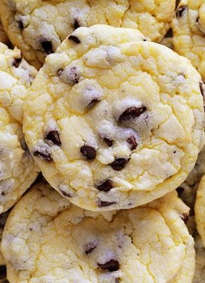 Chocolate Chip Cake Mix Cookies~ Easy, Fast, and the BEST tasting!