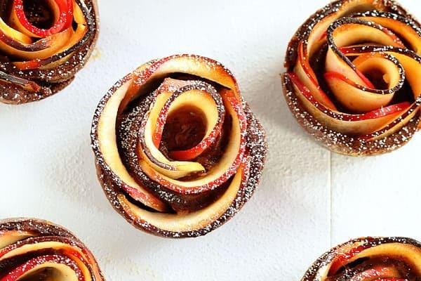 Chocolate Cinnamon Apple Rose!
