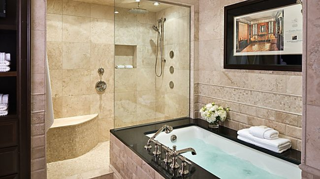 Bathroom at the American Club